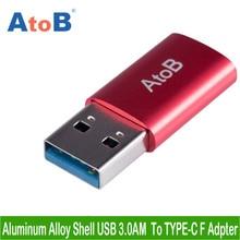 AtoB USB 3,0 macho a tipo C 3,1 adaptador hembra de sincronización de datos rápida cargador USB C tipo c Convertidor para Macbook Oneplus Huawei Xiaomi