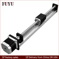 Free shipping 50mm~1000mm Travel Stroke CNC Linear Guide Rail Stage Actuator Slide Ball Screw Motorized Nema23 Robot Arm Kits