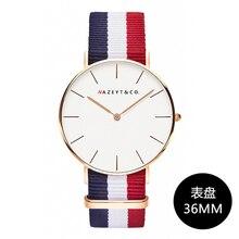 new arrived women fashion Ultrathin Daniel type quartz wristwatch 36mm casual and simple dial student nylon dress watch