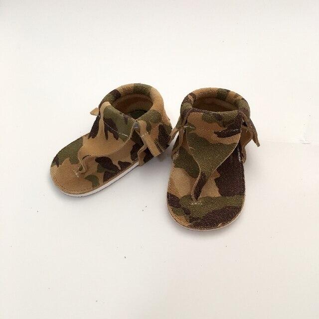 Ручной Камуфляж Первые Ходоки Натуральная Кожа Детская Обувь