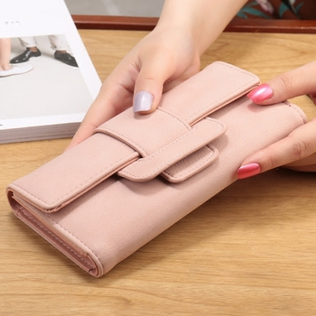 New arrival women wallet fashion long style large capacity wallets coin pocket multi-function hasp purse three fold clutch