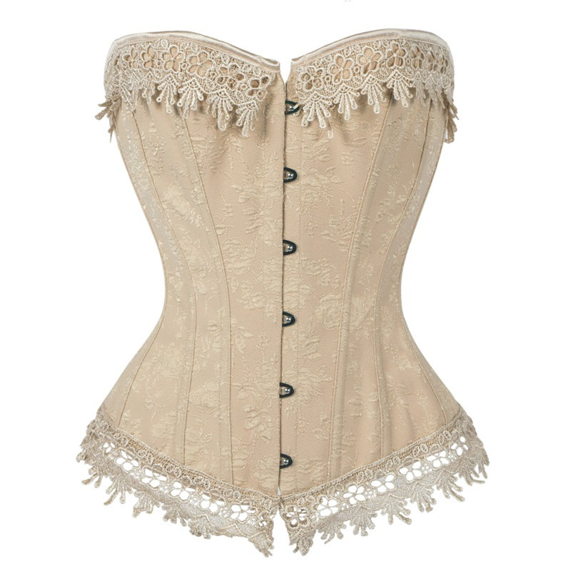 Women's Plus Size   Corset   Renaissance Satin Lacing   Corset   Top Shape Sexy Slim   Corsets     Bustiers   Waist Trainer Steampunk Corselet