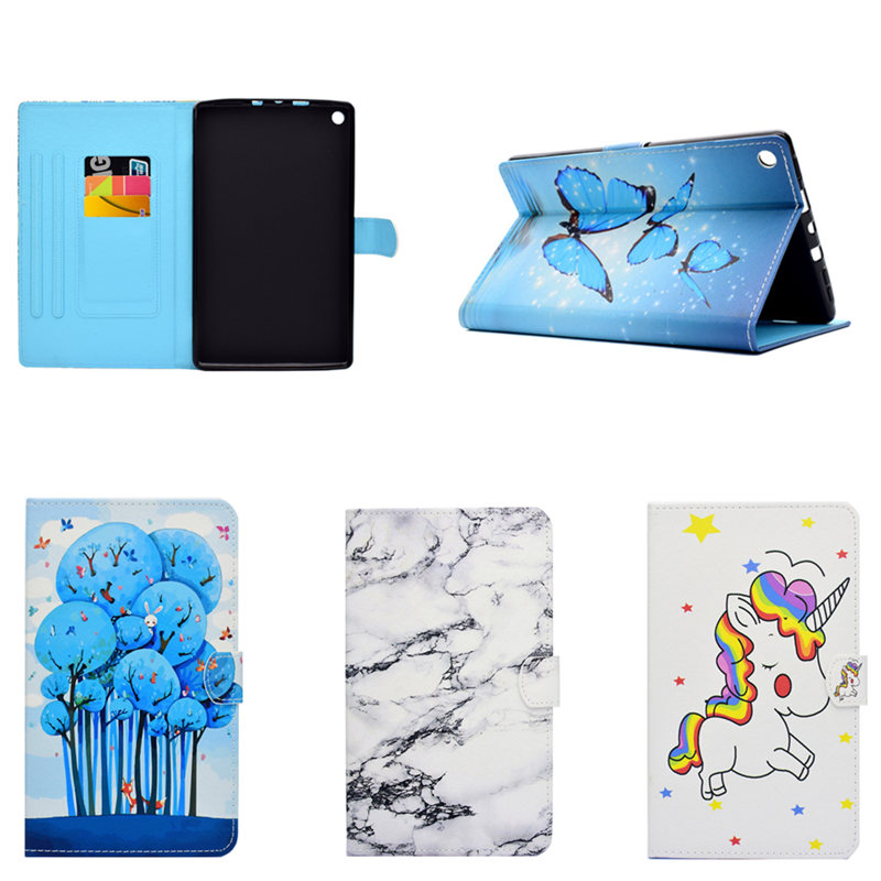 PU Leather Case Flip PU Leather Stand Book Kids Cute Cover For Amazon Kindle New Fire HD 8 HD8 2016 2017 8.0 inch Book for amazon 2017 new kindle fire hd 8 armor shockproof hybrid heavy duty protective stand cover case for kindle fire hd8 2017