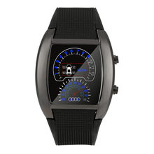 Relógios dos homens 2019 Nova Moda Legal Da Aviação Turbo Flash LED Watch Presente Mens Lady Sports Car Medidor Dial relogio relógio masculin(China)