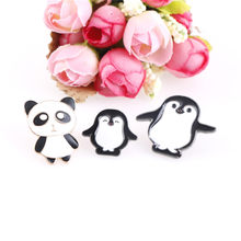 Cute Cartoon Animal Brooches Panda Penguin Mother Baby Enamel Pins Denim Tops Coat Child Backpack Fashion Badge Accessories(China)