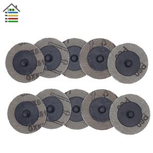 Image 5 - 25 個 50 ミリメートル Roloc ためサンディングディスク研磨パッドプレート 2 インチサンダー紙ディスク砥石研磨ツール 60 80 100 120 グリット