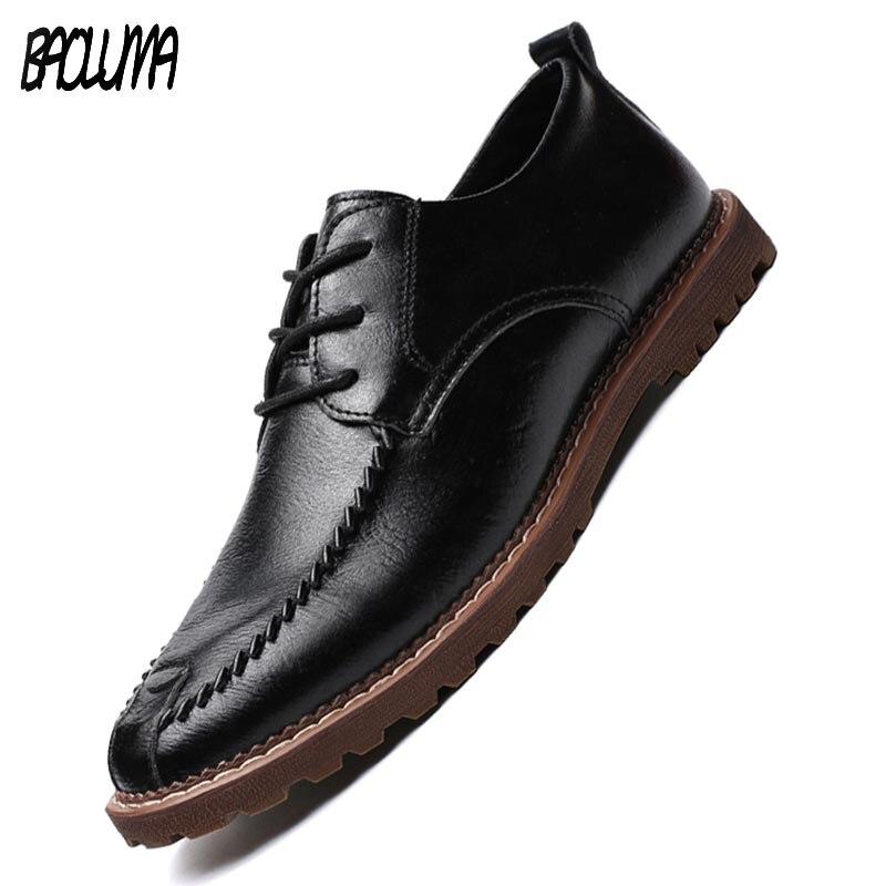 daaa2307ae649 Comprar Hombres Zapatillas De Cuero Marca Hombre Zapatos Casual ...