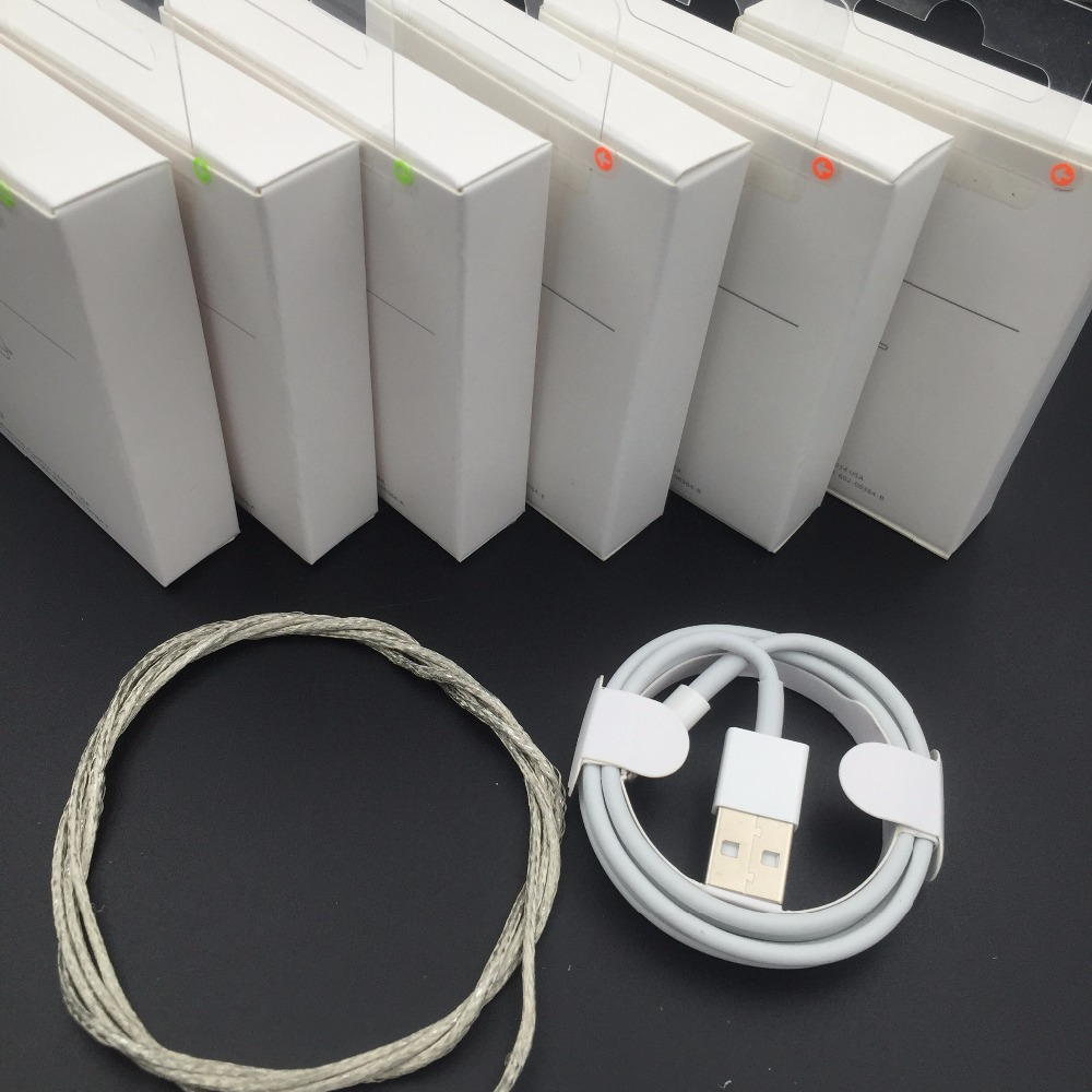 10pcs/lot OD: 3.0mm AAAA+ Quality Metal Braided USB Data Sync Charger Cable For iPhone 5 6s 6 7 8 plus X with Retail Box