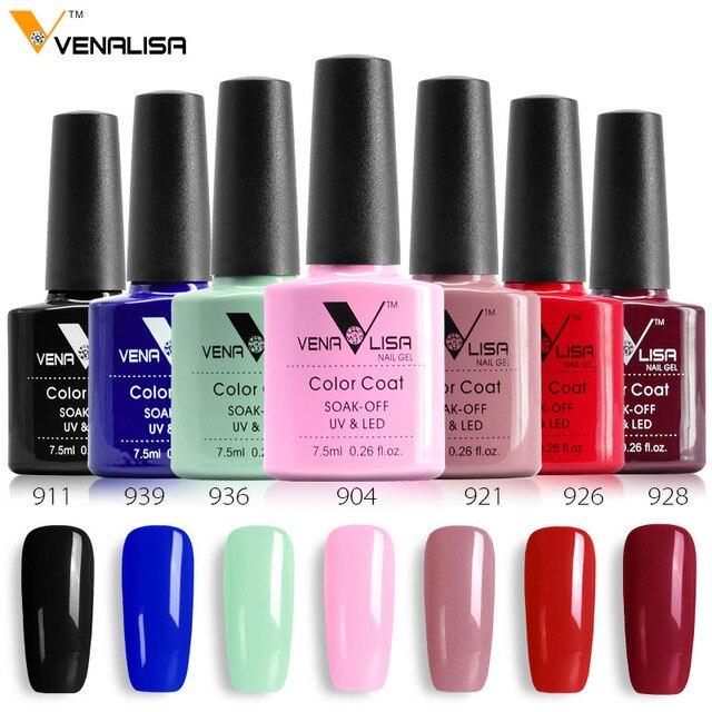 CANNI Factory Supply Venalisa 60 Colors Nail DIY Soak off Gel uv led 7.5ml nail art Enamel gel nails polish uv varnish lacquer