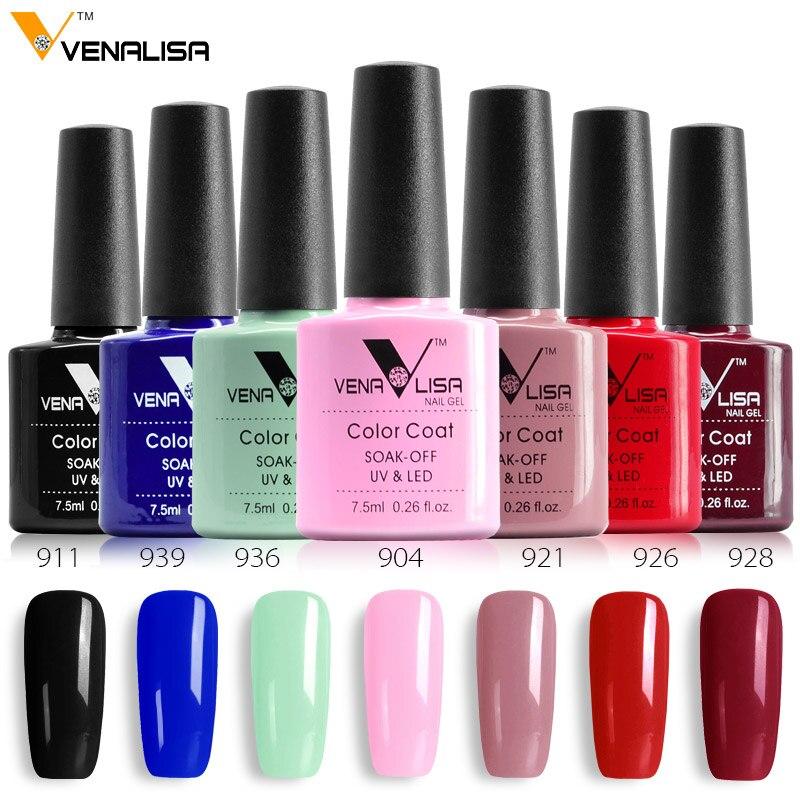 Canni фабрика питания venalisa 60 Цвета ногтей DIY Soak Off UV Гель LED 7.5 мл дизайн ногтей Эмаль Гель для маникюра УФ-лак