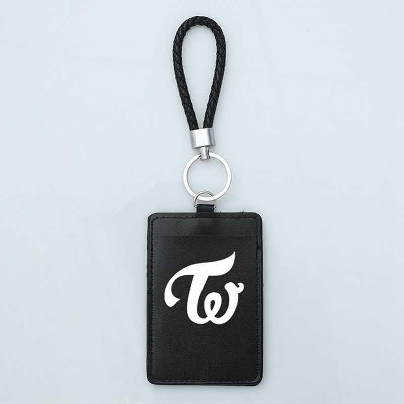 1Pc PU Lederen KPOP TWEEMAAL Album Badge Business Bus Pass Card Set ID Kaarthouder Case Cover