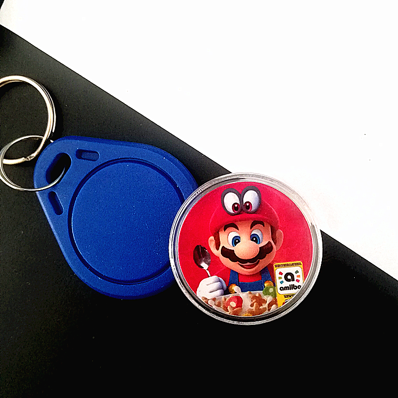 1Pcs/lot Super Mario Cereal NFC Of Amiibo Printed NFC Card Collection Coin Tag Cereal Delicious (NFC Card Only)