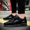 Parejas cojín verano zapatos ocasionales de los hombres Coreanos aumentaron zapatos de la marea estudiante transpirable hombres zapatillas de jogging zapatos