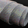 Rhinestone Mesh Aluminum Silver Base 36Rows 48rows SS8 CrystalAB With Glue For Garment Bags Free Shipping