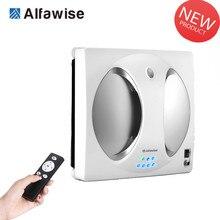 Умный робот-пылесос Alfawise WS-960 для уборки окон и окон, 4 светодиода, вращающийся на 360, пульт дистанционного управления
