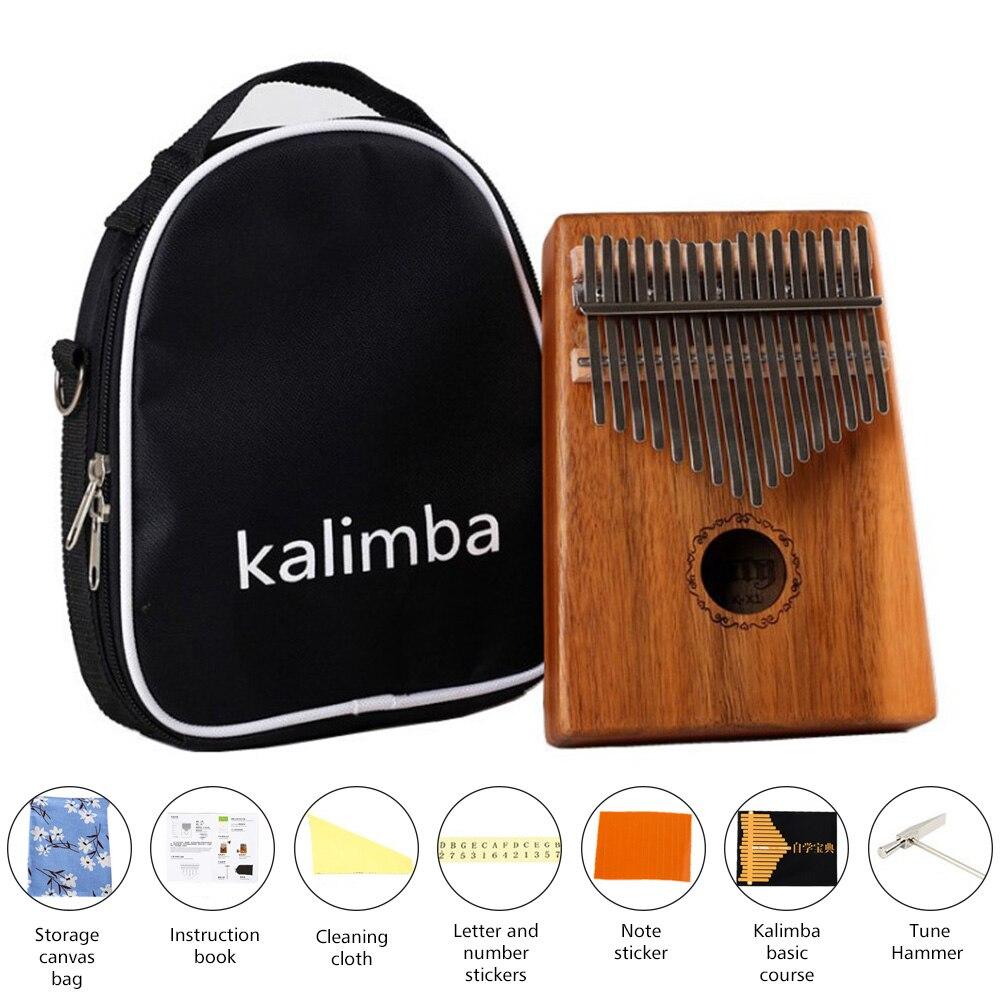 17 Teclas De Madera De Acacia Kalimba Pulgar Africano Piano Dedo De Percusión Teclado Instrumentos De Música Niños Marimba Madera
