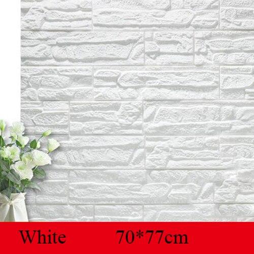 70*77cm Brick wall Stickers DIY 3D PE Foam Wallpaper Panels Room Decal Stone Decoration Embossed Self Adhensive 3D Brick Wall Wall Stickers    - AliExpress