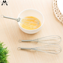 MeiJiaG Multi-function Stainless Steel hand Egg Beaters Kitchen Gadgets Stirring Whisk Rotary Accessories