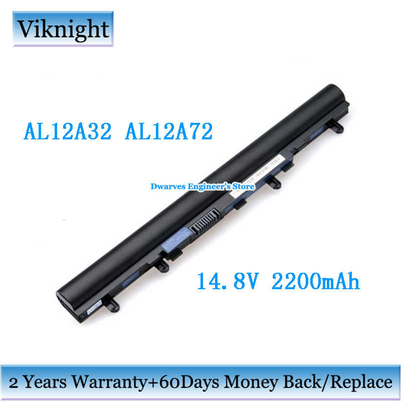14,8 V 2200 mAh AL12A32 AL12A72 batería del ordenador portátil para Acer Aspire V5 serie E1-572 V5-471G V5-431 531 771 Li-ion recargable de la batería