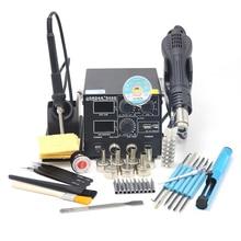 GORDAK 868D Интеллектуальный 3 в 1 антистатический горячий воздух двойной цифровой пистолет горячего воздуха паяльная станция USB зарядка мобильный телефон