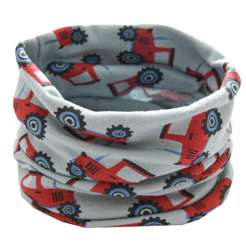 Осенне-зимний детский хлопковый плюшевый шарф, детский шарф для девочек, шарфы для мальчиков и девочек, детский воротник, детский волшебный шейный платок с круглым вырезом - Цвет: blue truck