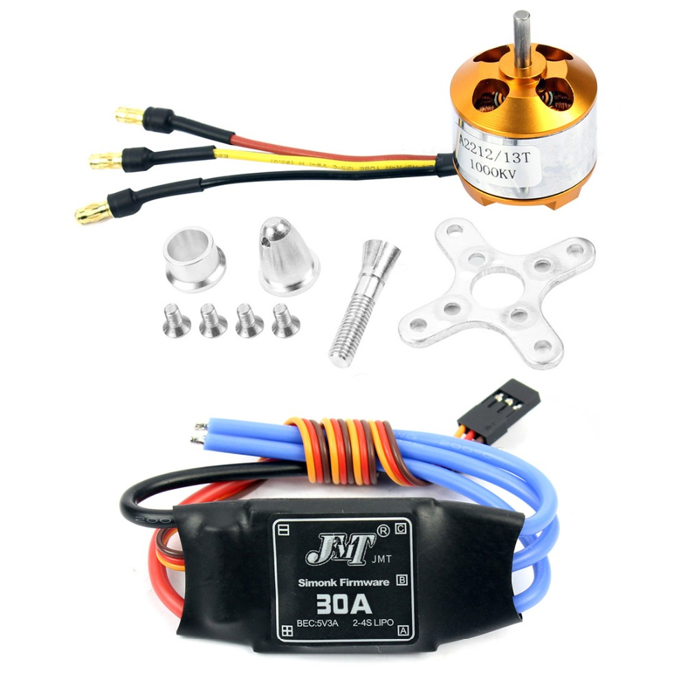 A2212 1000KV Brushless Outrunner Motor 13T + 30A Speed Controller ESC for  DIY RC Drone Aircraft KK 4 Axle Copter UFO