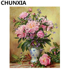 CHUNXIA Painting By Numbers DIY Framed Oil Paint Pictures Wall Art Home Decor Unique Gift 939(China)