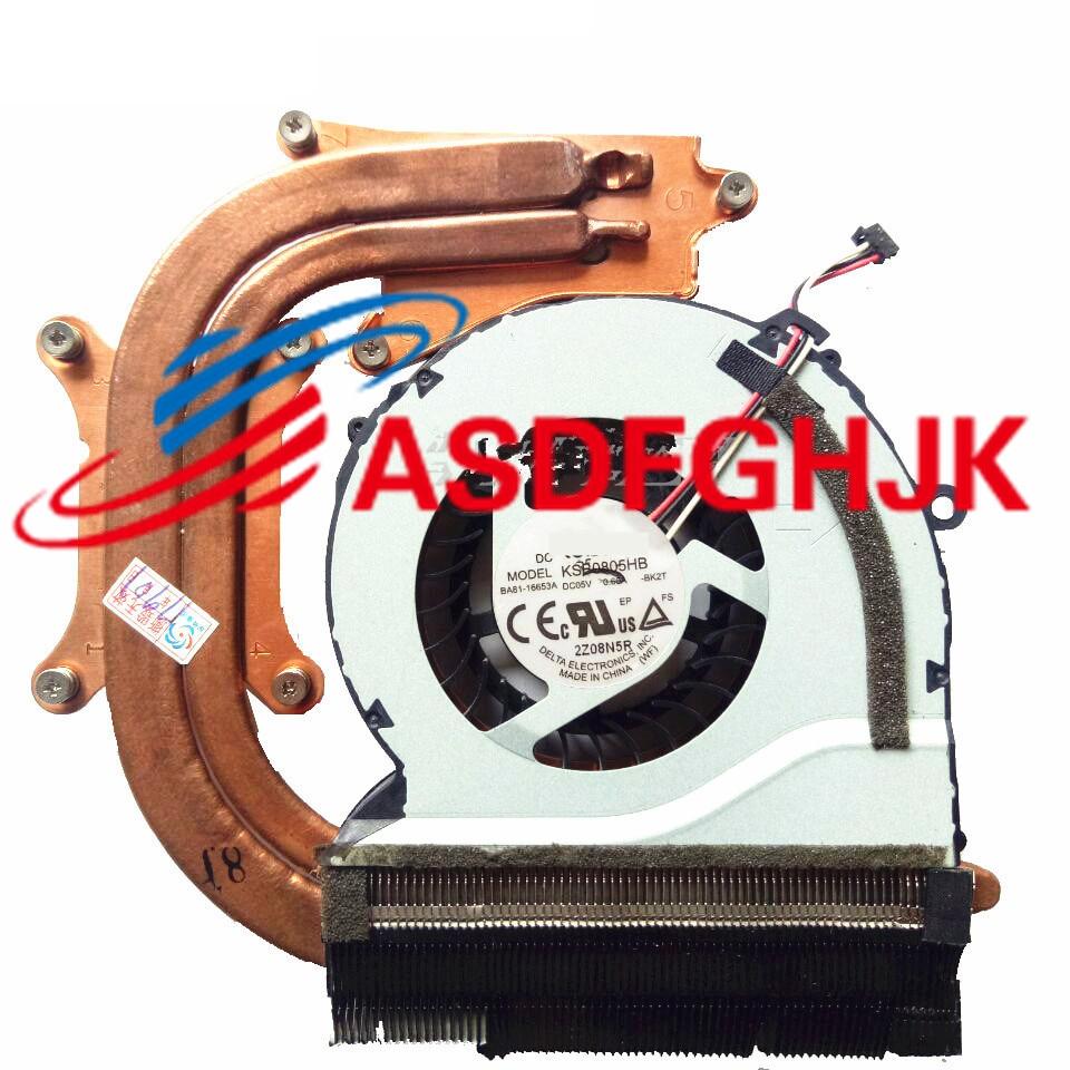 GENUINE Laptop Cooler Radiator Heatsink Fan For Samsung NP550P5C NP550P7C BA62-00675A BA81-16653A DFS661605FQ0T 100% TESED OK