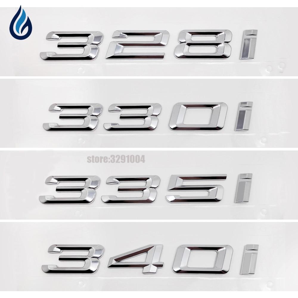 328i 330i 335i 340i Car Refit Displacement Emblems Tail Decor Sticker For BMW 3 Series F30 F31 F34 E21 E30 E36 E46 E90 E91 E92