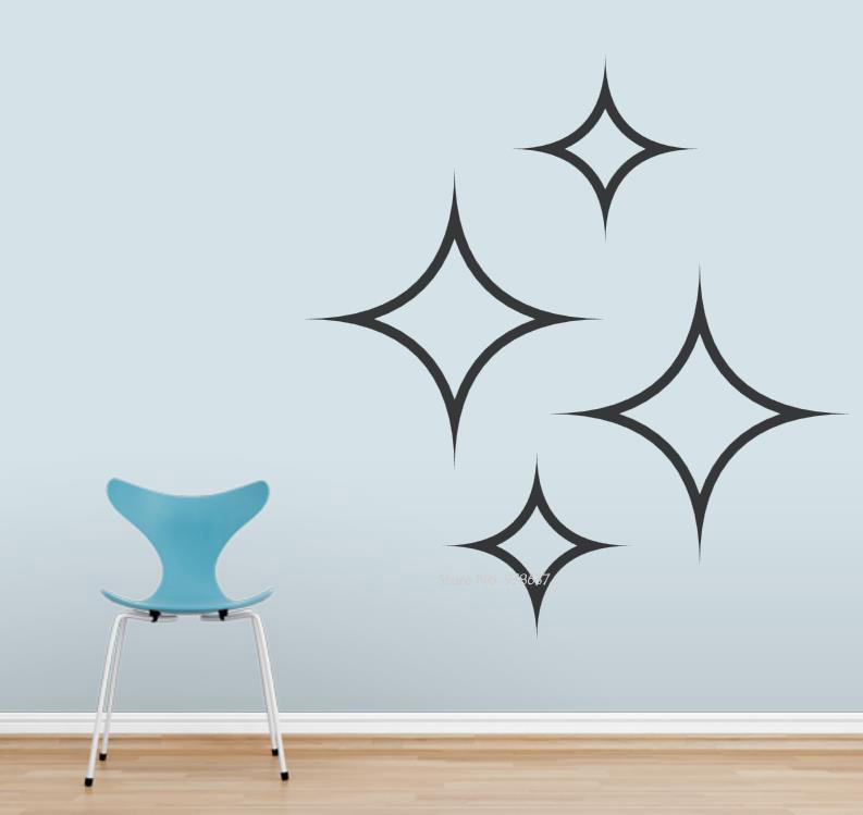 Diamond Stars Wall Art Decal Living Room Vinyl Wall Stickers For Bedroom Removable Office Decoration Creative Decor Decals ZA672
