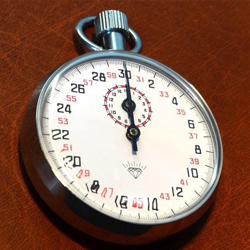 JM504 chronomètre mécanique montre en métal arrêt Table chronomètre minuteur coque de fer