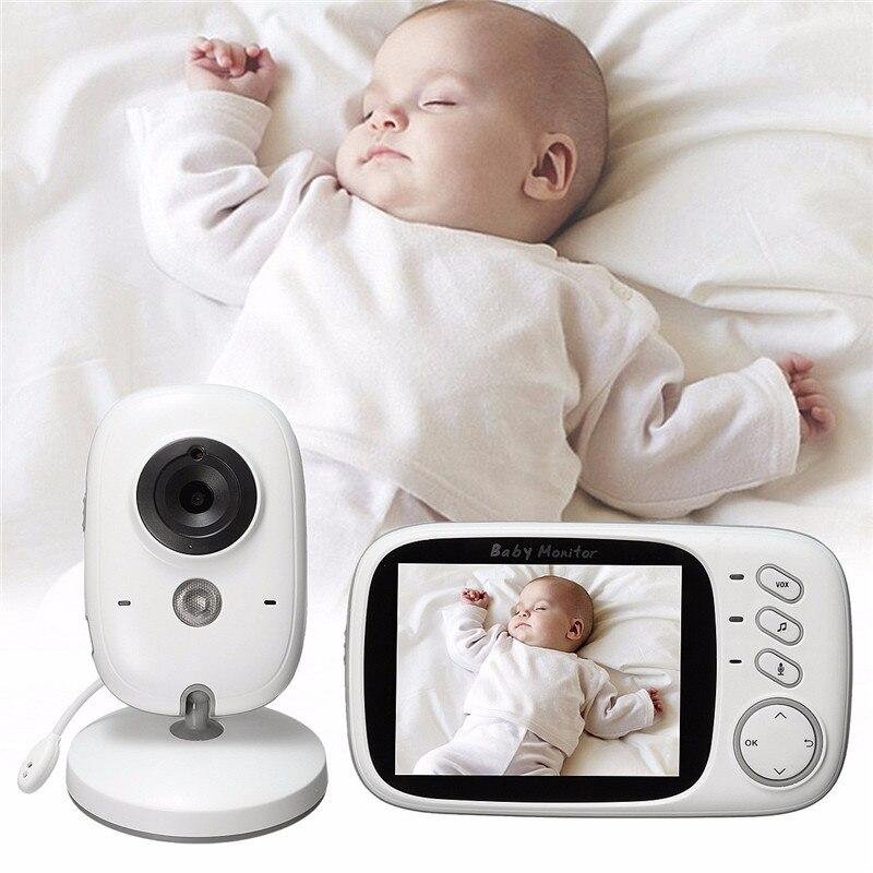 bilder für 3,2 zoll baba elektronik fetal doppler 8 Lullabies Temperatur monitor 2 way Sprechen digital babyphone kamera mit nachtsicht