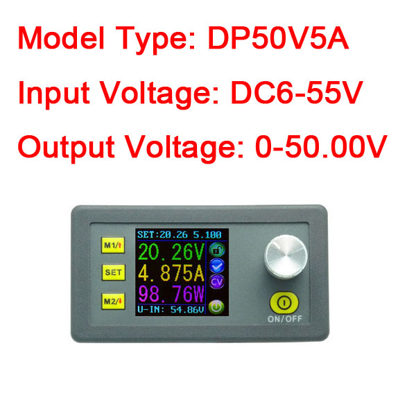 Digital Programme 5A DC 50V 5V 12V Step-down Regulated Power Supply Volt ammeterDigital Programme 5A DC 50V 5V 12V Step-down Regulated Power Supply Volt ammeter