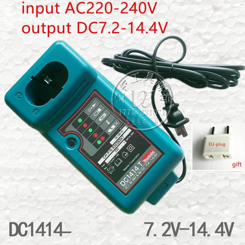 Charger DC1414T For MAKITA  7.2V 9.6V 12V 14.4V 18V NI-MH NI-CD Battery MAKITA DC1414T DC1414F DC1414 9100A 6281D 6010D 6261D wholesale5pcs 18v 2 0ah replacement battery for 18 volt makita 1822 192826 5 192827 3 ni cd red