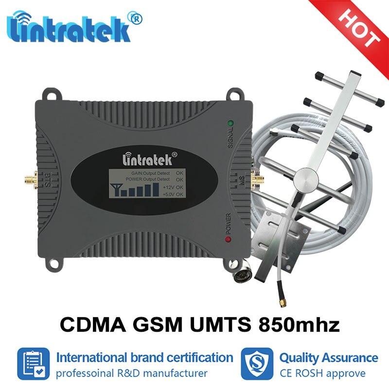 Amplificateur de téléphone portable Lintratek GSM 850 CDMA UMTS amplificateur de Signal celulaire LTE 850 mhz 2g 3g 4g répétiteur cellulaire jeu de répétiteurs #6
