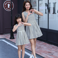 2017 Mother Daughter Dresses Family Matching Outfits Cute Plaid Family Look Matching Clothes Mom And Daughter