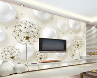 Beibehang обои домашнего декора 3D стерео мяч Одуванчик риса желтый минималистский ТВ фон обои для стен 3 D behang