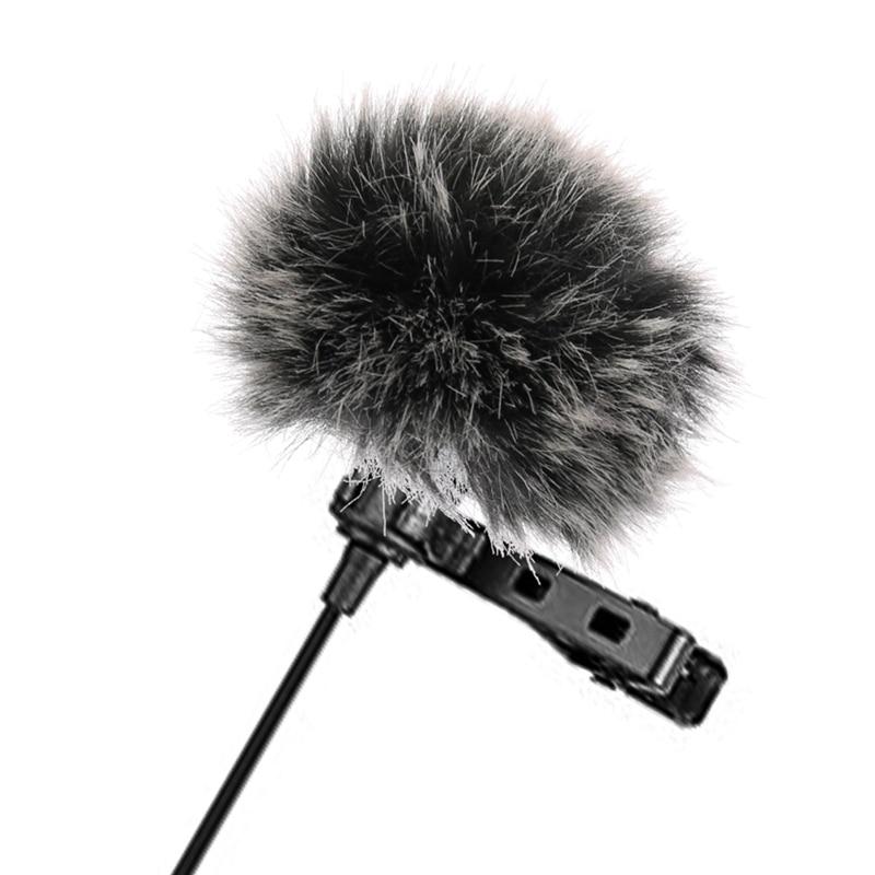Universal Lavalier Microphone Furry Windscreen Fur Windshield Wind Muff Soft For SONY RODE BOYA Lapel Lavalier Mic 5mm
