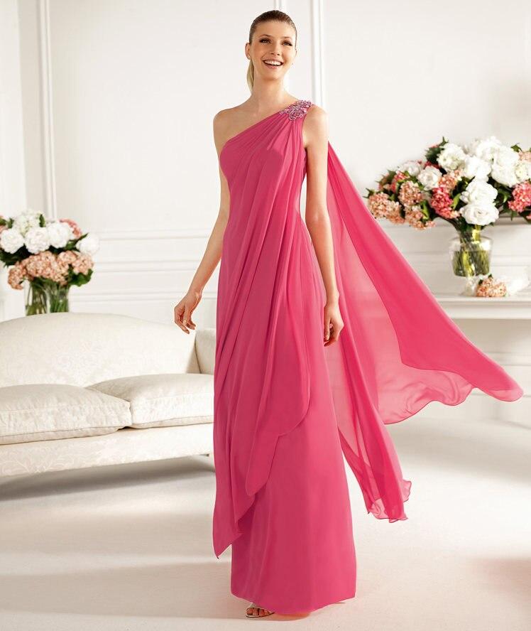 Gasa de seda largo de la cintura delgada se visten sexy vestido ...