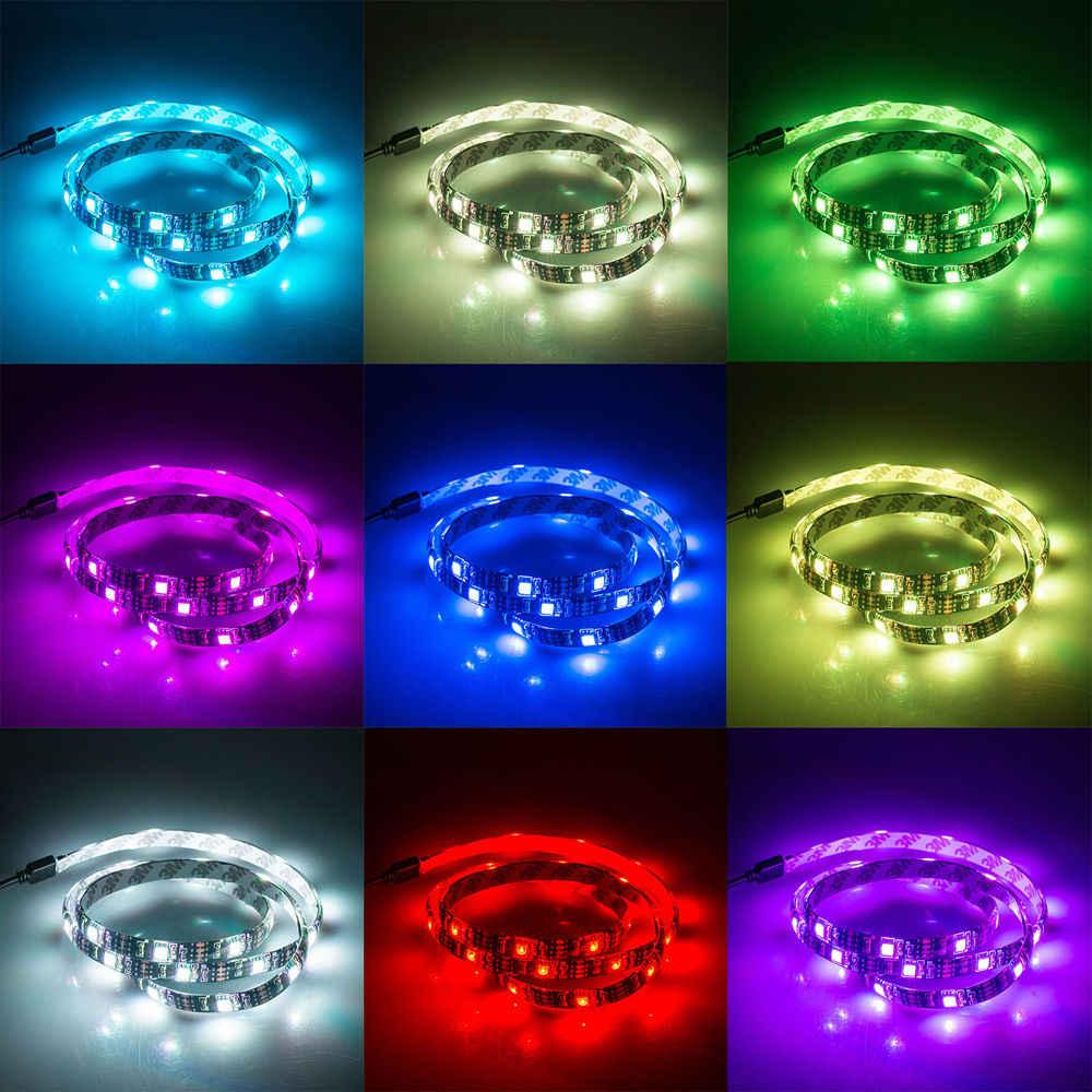 USB RGB LED Strip 5050 SMD Waterproof Fleksibel LED Backlight TV Kit Layar Datar LCD Komputer Desktop LED TV Backlighting 4X50 cm
