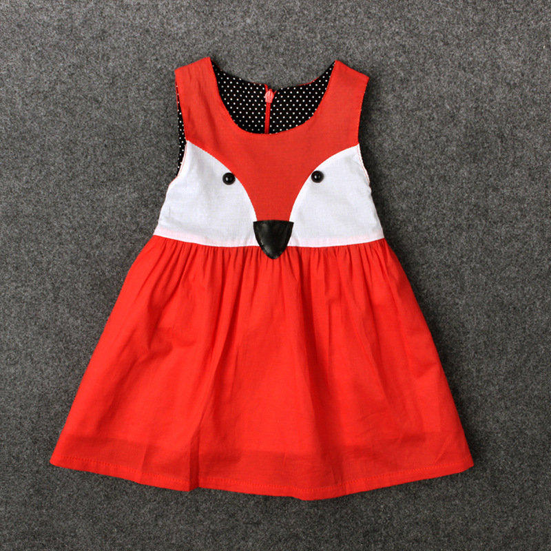 Fashion cute toddler girl clothes fox pattern red baby costume halloween