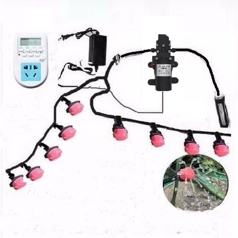 20m 4/7mm 2m 8/11mm Hose Automatically Watering Kit Garden Flowers DC Pump Gardening Spray Suits Timing Drip Irrigation System