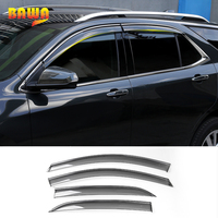 HANGUP Car Window Sun Rain Vent Visor Window Guard ABS Exterior Accessories For Chevrolet Equinox 2017Up Car Styling