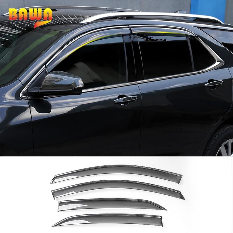 HANGUP voiture fenêtre soleil pluie Vent visière fenêtre garde ABS accessoires extérieurs pour Chevrolet Equinox 2017Up voiture style
