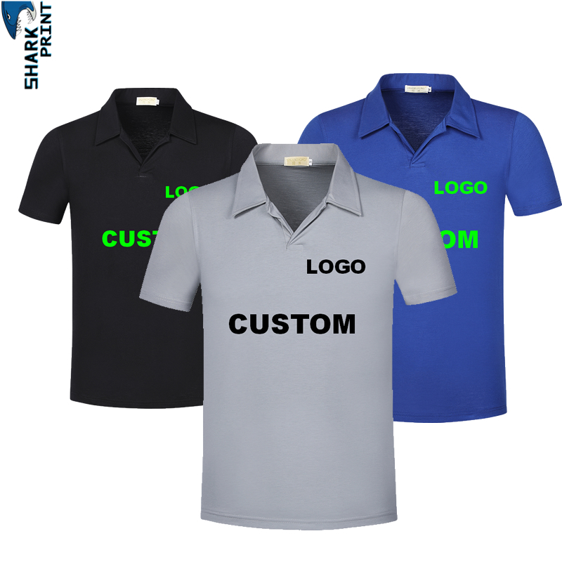 Fashion Custom   Polo   Shirts Men Cotton Print LOGO   Polos   Brand Short Sleeve Mens Group   Polo   Shirt Brands Style Wholesale Clothing