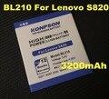 Новый 3200 мАч BL210 Батарея Мобильного Телефона Для Lenovo S820 Батареи S820E A750E A770E A656 A766 A658T S650 A606 A828T A658 телефон