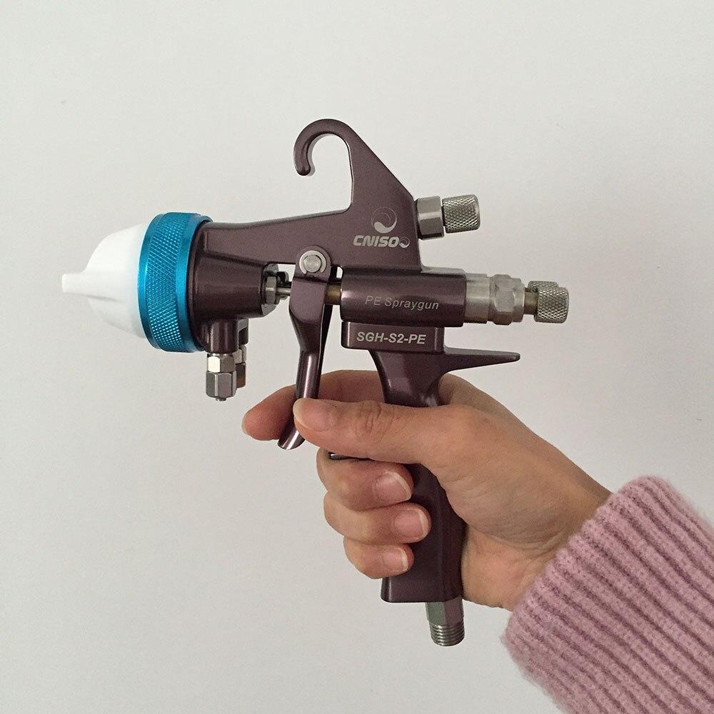 SAT1202 mirror chrome spray paint high pressure air spray paint gun furniture paint sprayers double nozzle spray paint tools