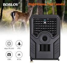 BOBLOV PR200 Trail hunting camera 12MP 49pcs 940nm IR LED 25FPS Waterproof Wildlife Camera Night Vision photo traps scout PR-200