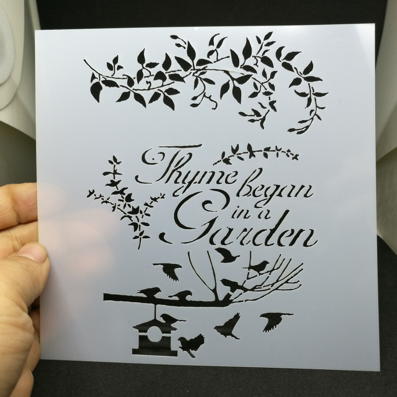 Garden birds pvc Layering Stencils for Diy scrapbook coloring,painting stencil,home decor diy etc. Product image