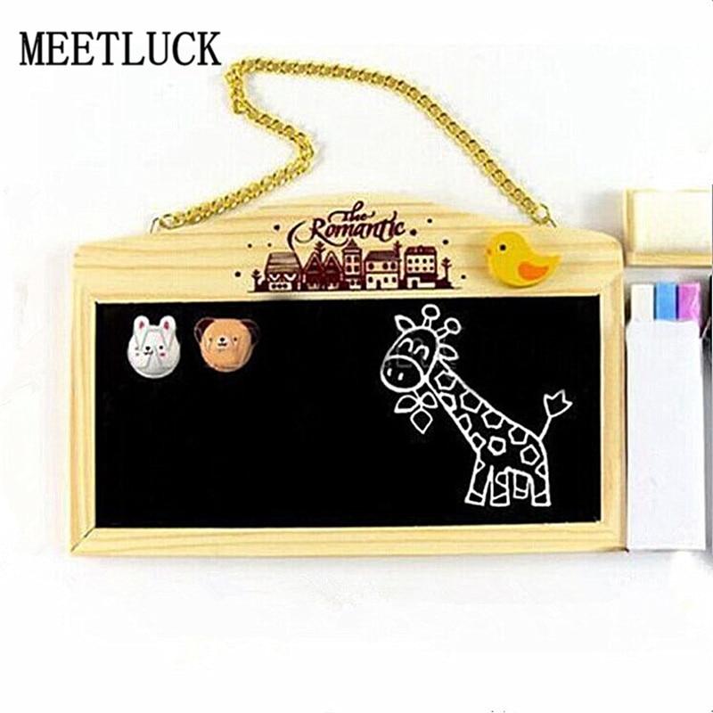 14*22 Cm Koreaanse Log Gemonteerde Dubbelzijdige Magnetische Schoolbord Whiteboard Message Board Cartoon Schattige Kinderen's Gifts 1 Stks